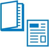 Media impresos - compartimiento y periódico Fotos de archivo libres de regalías