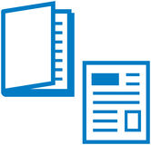 Media impressos - compartimento e jornal Fotos de Stock Royalty Free