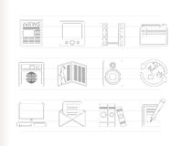 Media and information icons Royalty Free Stock Photography