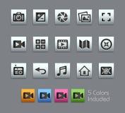 Media Interface Icons -- Satinbox Series Royalty Free Stock Photos