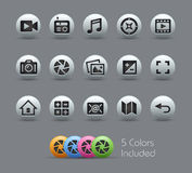 Media Interface Icons  Royalty Free Stock Photo