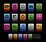 Media Interface Icons Stock Image