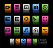 Media Interface Icons Stock Image