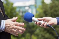 Media interview Royalty Free Stock Images