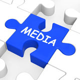 Media Jigsaw Shows Multimedia Newspapers Radio Or Tv Royalty Free Stock Photography