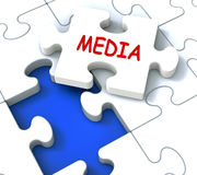 Media Jigsaw Shows News Multimedia Newspapers Stock Photo