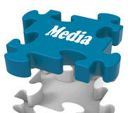 Media Jigsaw Shows Tvs News Newspapers Radio Or Tv Stock Photography