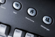 Media keyboard Stock Image