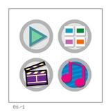 MEDIA: L'icona ha impostato 06 - versione 1 Fotografia Stock