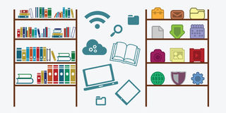 Media library content Stock Image