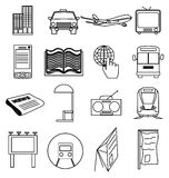 Media line icons set Royalty Free Stock Photography