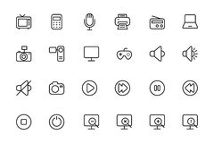 Media Line Vector Icons 1 Royalty Free Stock Photography