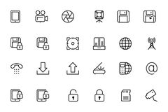 Media Line Vector Icons 2 Stock Image