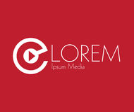 Media Logo Concept Design Photographie stock libre de droits