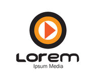Media Logo Concept Design Stock Image