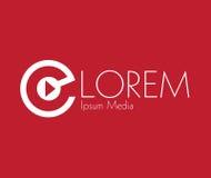 Media Logo Concept Design Royalty Free Stock Photography
