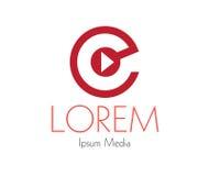 Media Logo Concept Design Stock Photo