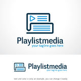 Media Logo Template Design Vector de liste de jeu Photos libres de droits