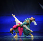 Media luna viva del ballet del amor-Hui sobre Helan Imagenes de archivo