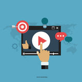Media marketing concept. Flat illustration royalty free illustration