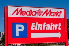 Media Markt Bayreuth - Entrance royalty free stock images