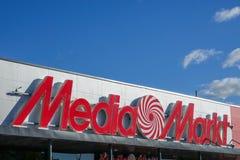 Media Markt, Niemiecka wielonarodowa łańcuszkowa sprzedawanie elektronika użytkowa zdjęcie royalty free