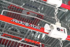 Media Markt shopping carts Stock Image