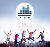Media Melody Play Concept de lecteur de musique Images stock