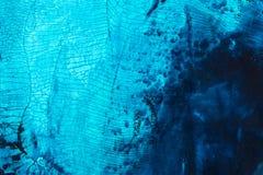 Media misti blu variopinti che dipingono il primo piano di superficie di macro dei dettagli Fotografie Stock