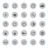 Media Mobile and communication icons vector illustration Stock Image