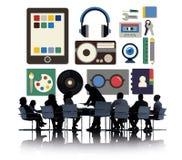 Media Movies Radio Music Tools Concept Stock Photos