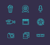 Media or multimedia icon set Royalty Free Stock Images