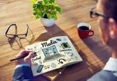 Media Multimedia Social Media Online Concept Stock Photo