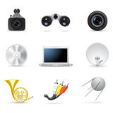 Media and music icons 4 Royalty Free Stock Photo