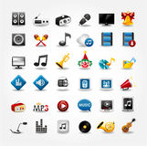 Media and music icons collection Stock Images