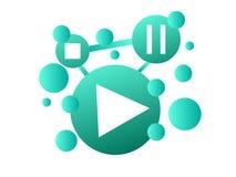 Media music play symbol logo and icon vector illustration