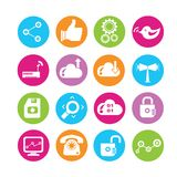 Media and network icons Royalty Free Stock Image