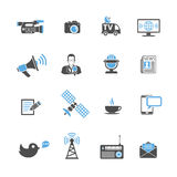 Media and News Icons Set Stock Images