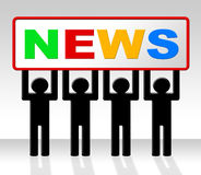 Media News Represents Journalism Newspapers And Info Royalty Free Stock Photos