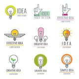 Media numérique d'idée créative, collection futée de logo de vecteur de concept de cerveau Photos libres de droits