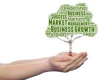 Media o nuvola concettuali di parola dell'albero di affari Immagini Stock