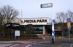 Media Park in Hilversum, the Netherlands. Hilversum, the Netherlands. February 2018. Media Park in the Dutch city of Hilversum, home to a number of Dutch Stock Photo