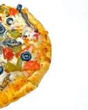 Media parte de desmoches del vehículo de la pizza Imágenes de archivo libres de regalías
