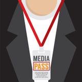 Media Pass Lanyard. Royalty Free Stock Photos