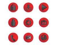 Media and phone cellular Music note symbols logo and icons templ. Ate Royalty Free Stock Photography