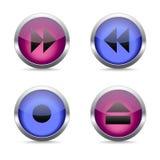 Media pictogrammen geplaatst voor om het even welk gebruik, Vectoreps10 groot Royalty-vrije Stock Afbeelding