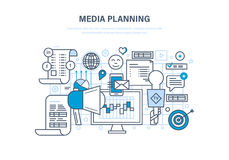 Media planning, digital marketing, advertising, online business, financial analysis, research. Media planning, digital marketing, advertising, promotion in Stock Images