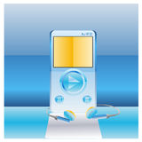 Media player. Music media player  illustrations Stock Photography