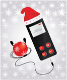 Media player. With Christmas design Stock Images