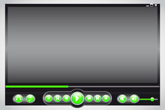 Media player. Color black and green Royalty Free Stock Images